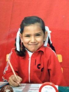 Myriam Ortiz a los 7 años