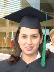 Myriam Ortiz durante sus estudios universitarios